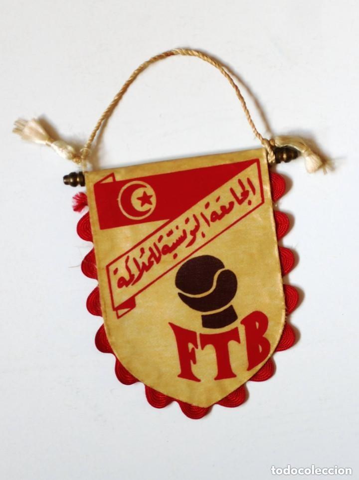 BANDERÍN BOXEO: FTB - FEDERACION TUNECINA DE BOXEO - ORIGINAL DE LOS AÑOS 70 - TUNEZ TUNISIE (Coleccionismo Deportivo - Banderas y Banderines otros Deportes)