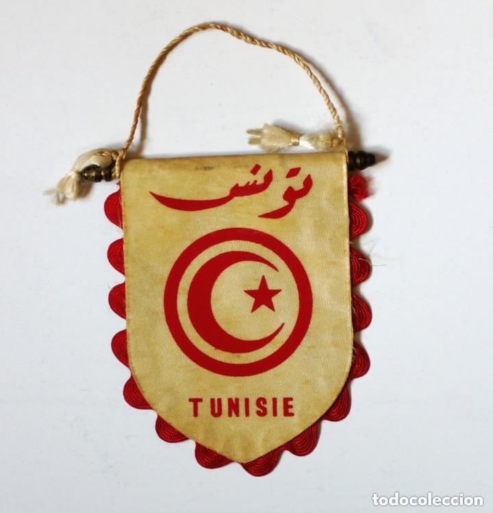 Coleccionismo deportivo: Banderín BOXEO: FTB - FEDERACION TUNECINA DE BOXEO - Original de los años 70 - Tunez Tunisie - Foto 2 - 179322111