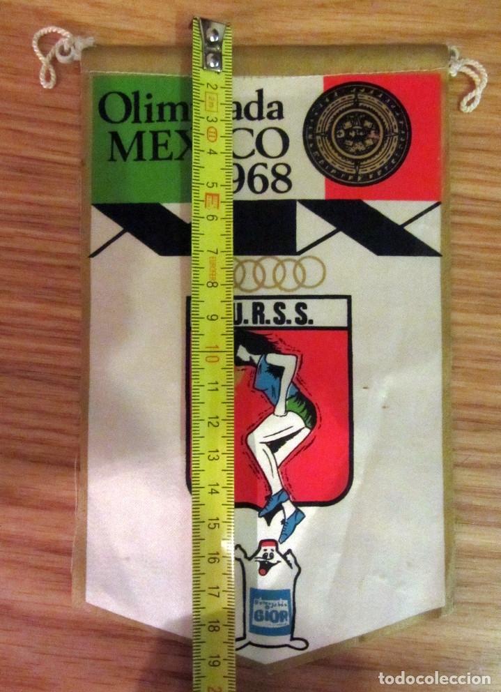 BANDERIN PENNANT OLIMPIADA MEXICO 1968 U.R.S.S. GIOR (Coleccionismo Deportivo - Banderas y Banderines otros Deportes)
