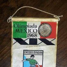 Coleccionismo deportivo: BANDERIN OLIMPIADA MEXICO 1968. CHECOSLOVAQUIA. PUBLICIDAD DETERGENTES GIOR:. Lote 181510400