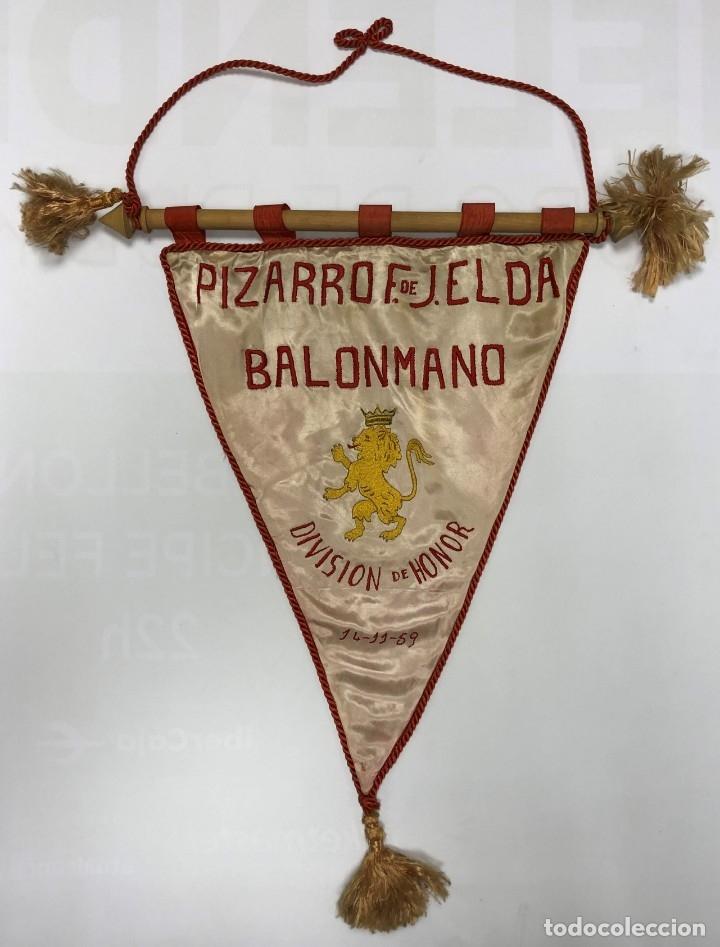 BALONMANO - PIZARRO FRENTE DE JUVENTUDES ELDA - 1959 (Coleccionismo Deportivo - Banderas y Banderines otros Deportes)