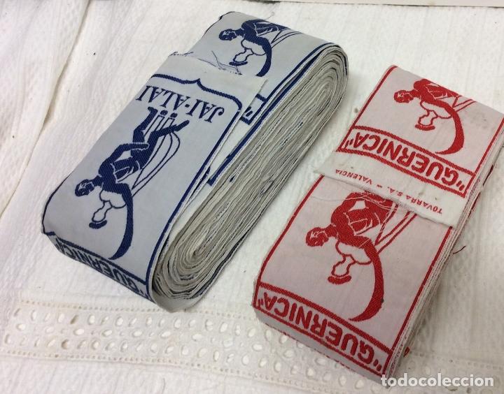 Coleccionismo deportivo: CINTAS SERIGRAFIADA O BORDADA CON PUBLICIDAD DEL FRONTÓN JAI-ALAI-VALENCIA - Foto 2 - 182087741