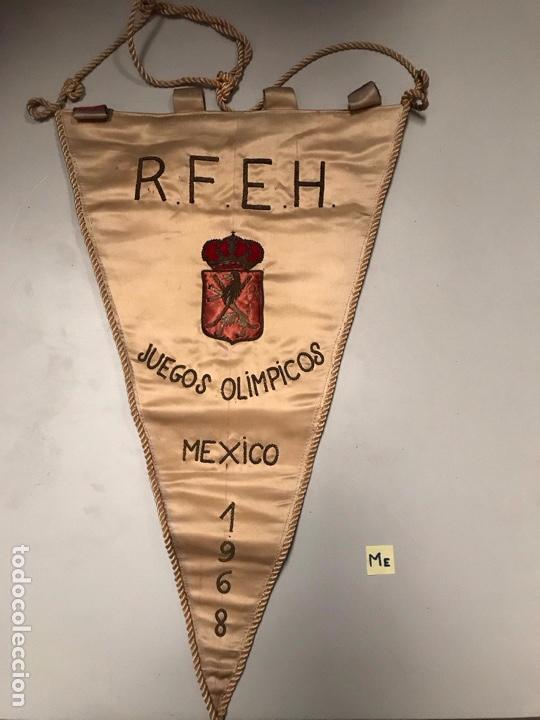 ANTIGUO BANDERÍN JUEGOS OLÍMPICOS MÉXICO (Coleccionismo Deportivo - Banderas y Banderines otros Deportes)