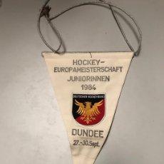 Coleccionismo deportivo: ANTIGUO BANDERÍN HOCKEY. Lote 182228367