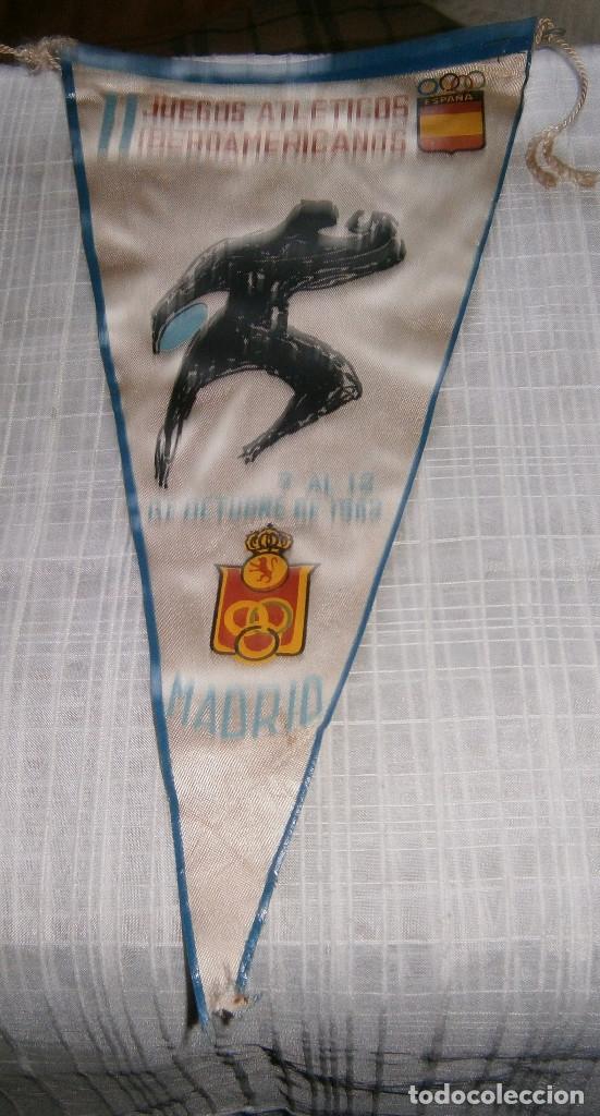 II JUEGOS ATLETICOS IBEROAMERICANOS MADRID 1962 (Coleccionismo Deportivo - Banderas y Banderines otros Deportes)