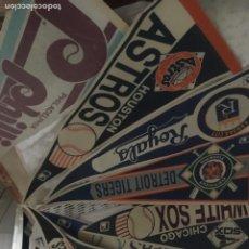 Coleccionismo deportivo: BEISBOL AMERICANO. 12 BANDERINES DE LOS AÑOS 70/80. . Lote 182753181