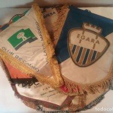 Coleccionismo deportivo: COLECCIÓN DE 13 BONITOS BANDERINES RELACIONADOS CON EL HOCKEY, 2 DE ELLOS CON FIRMAS.. Lote 183490485