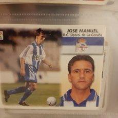 Colecionismo desportivo: EDICIONES ESTE 99 00 1999 2000 JOSE MANUEL DEPORTIVO DE LA CORUÑA SIN PEGAR. Lote 192394785