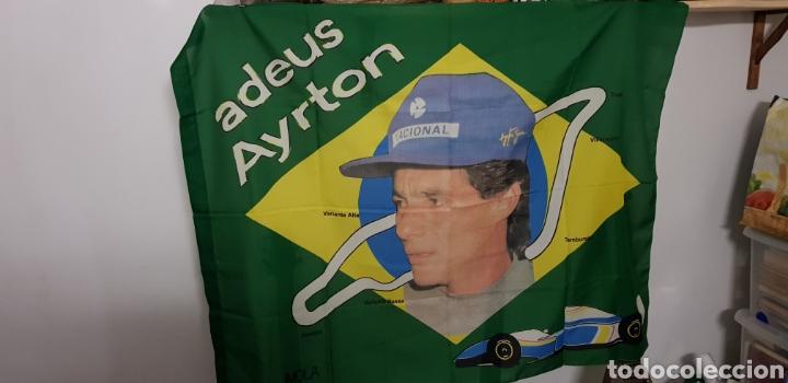 BANDERA HOMENAJE: ADEUS AYRTON SENNA (Coleccionismo Deportivo - Banderas y Banderines otros Deportes)