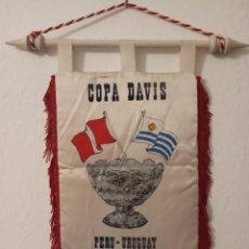 Coleccionismo deportivo: ANTIGUO BANDERÍN ORIGINAL DE TENIS COPA DAVIS PERU VS URUGUAY AÑO 1990. Lote 195346213
