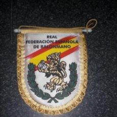 Coleccionismo deportivo: BANDERÍN REAL FEDERACIÓN ESPAÑOLA DE BALONMANO. Lote 196788111