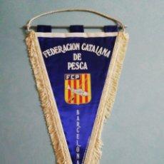 Coleccionismo deportivo: BANDERIN FEDERACION CATALANA DE PESCA. Lote 200336912