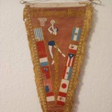 Collezionismo sportivo: BANDERÍN MUNDIAL DE BÁSQUETBOL BRASIL 1963. Lote 201367338