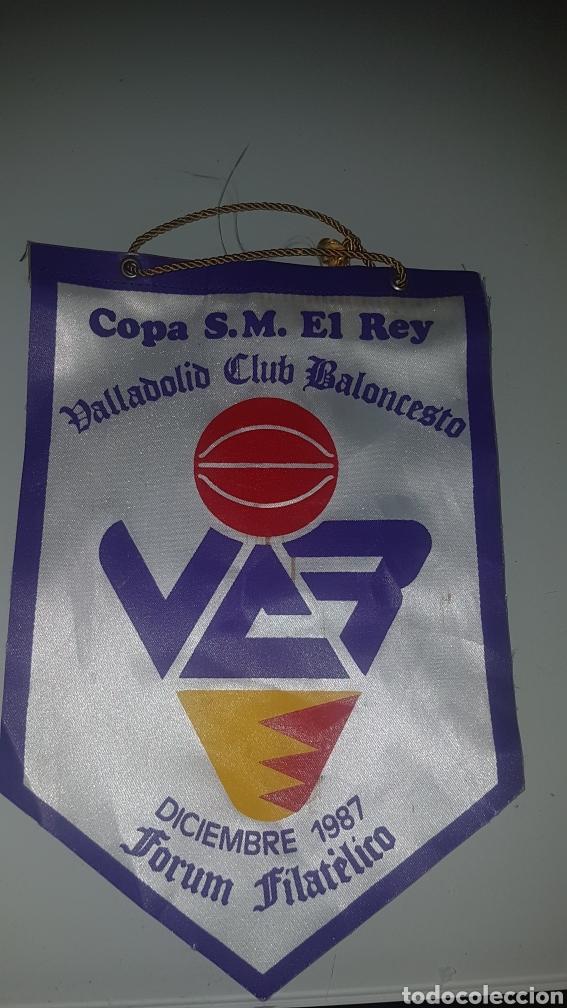 BANDERÍN BALONCESTO COPA DEL REY 1987 FORUM FILATÉLICO (Coleccionismo Deportivo - Banderas y Banderines otros Deportes)