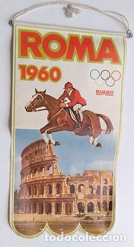 BANDERÍN JUEGOS OLIMPICOS ROMA 1960 (Coleccionismo Deportivo - Banderas y Banderines otros Deportes)