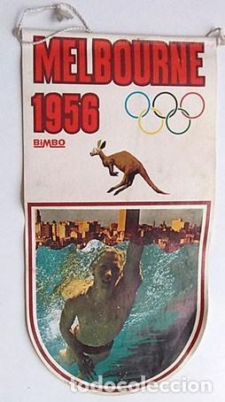 BANDERÍN JUEGOS OLÍMPICOS MELBURNE 1956 (Coleccionismo Deportivo - Banderas y Banderines otros Deportes)