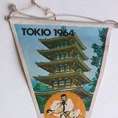 Coleccionismo deportivo: BANDERÍN JUEGOS OLÍMPICOS TOKIO 1964. Lote 202907062