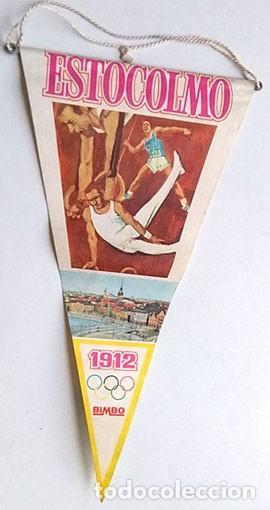 BANDERÍN JUEGOS OLÍMPICOS ESTOCOLMO 1912 (Coleccionismo Deportivo - Banderas y Banderines otros Deportes)