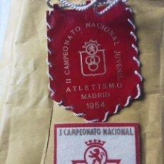 Coleccionismo deportivo: PARCHES CAMPEONATO NACIONAL JUVENIL 53 54. Lote 207073273
