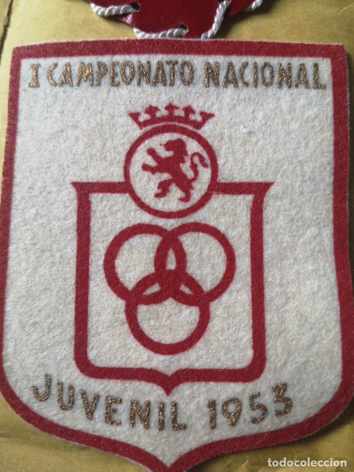 Coleccionismo deportivo: Parches campeonato nacional juvenil 53 54 - Foto 2 - 207073273