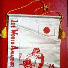 Coleccionismo deportivo: BANDERÍN BOXEO: CUBA 74, 1ST WORLD AMATEUR BOXING CHAMPIONSHIPS - ORIGINAL - BOXING. Lote 209653450