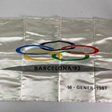 Coleccionismo deportivo: BANDERA XXV OLIMPIADA BARCELONA 1992.. Lote 210173448
