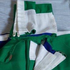 Coleccionismo deportivo: TRES BANDERAS SIERRA LEONA 150X100 (2 PARA IZAR Y 1 PARA INTERIOR). Lote 210814350
