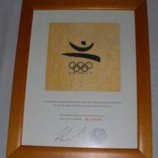 Coleccionismo deportivo: TROZO DE BANDERA JUEGOS OLÍMPICOS DE BARCELONA 1992.. Lote 210832849
