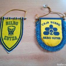 Coleccionismo deportivo: LOTE DE 2 BANDERINES DEL CAJA BILBAO ANTIGUOS.. Lote 211486954