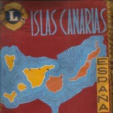 Coleccionismo deportivo: BANDERÍN: LIONS INTERNATIONAL. ISLAS CANARIAS. UNIÓN. ESPAÑA. (C/A45). Lote 211527545
