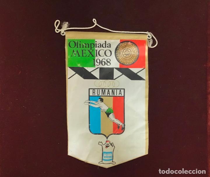 GIOR, BANDERÍN RUMANIA, OLIMPIADA MÉXICO 1968 (Coleccionismo Deportivo - Banderas y Banderines otros Deportes)