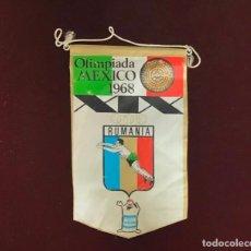 Coleccionismo deportivo: GIOR, BANDERÍN RUMANIA, OLIMPIADA MÉXICO 1968. Lote 213684120