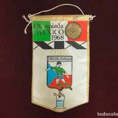 Coleccionismo deportivo: GIOR, BANDERÍN CHECOSLOVAQUIA, OLIMPIADAS MEXICO 1968. Lote 213684430
