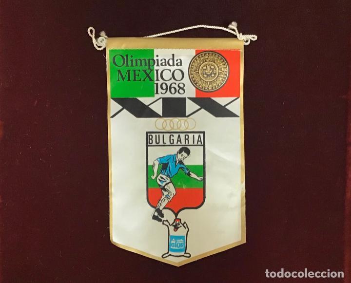 GIOR, BANDERÍN BULGARIA, OLIMPIADAS MEXICO 1968 (Coleccionismo Deportivo - Banderas y Banderines otros Deportes)