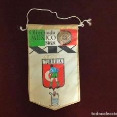 Coleccionismo deportivo: GIOR, BANDERÍN TURQUÍA, OLIMPIADA MEDICO 1968. Lote 213692281