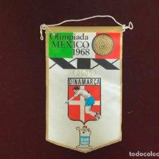 Coleccionismo deportivo: GIOR, BANDERÍN DINAMARCA, OLIMPIADAS MEXICO 1968. Lote 213692651