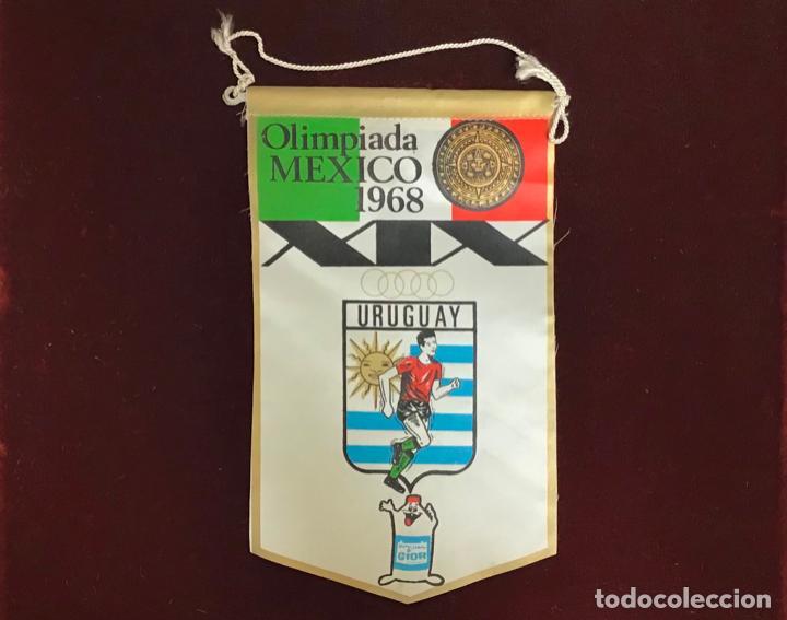 GIOR, BANDERÍN URUGUAY, OLIMPIADA MEXICO 1968 (Coleccionismo Deportivo - Banderas y Banderines otros Deportes)