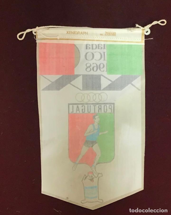 Coleccionismo deportivo: GIOR, BANDERÍN PORTUGAL, OLIMPIADA MEXICO 1968 - Foto 2 - 213693558