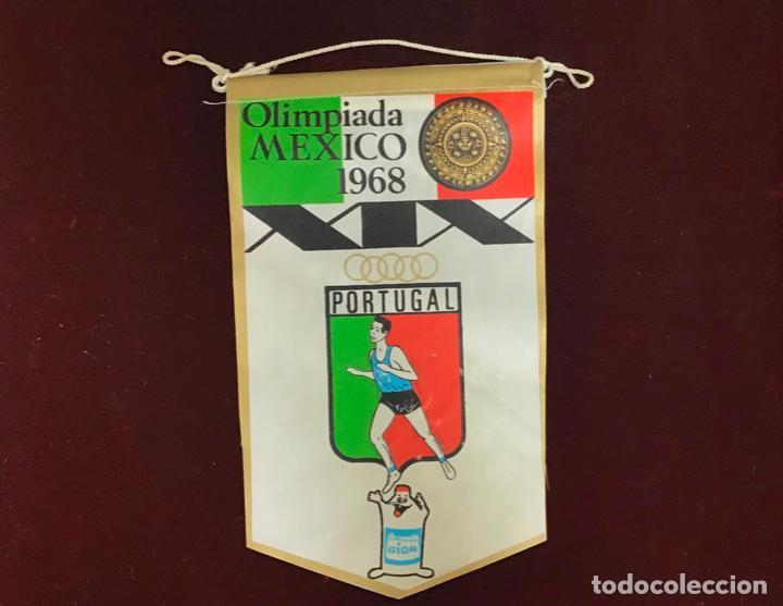 GIOR, BANDERÍN PORTUGAL, OLIMPIADA MEXICO 1968 (Coleccionismo Deportivo - Banderas y Banderines otros Deportes)