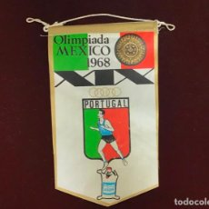 Coleccionismo deportivo: GIOR, BANDERÍN PORTUGAL, OLIMPIADA MEXICO 1968. Lote 213693558