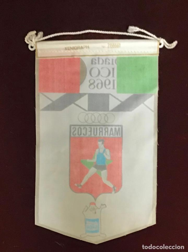 Coleccionismo deportivo: GIOR, BANDERÍN MARRUECOS, OLIMPIADAS MEXICO 1968 - Foto 2 - 213693776