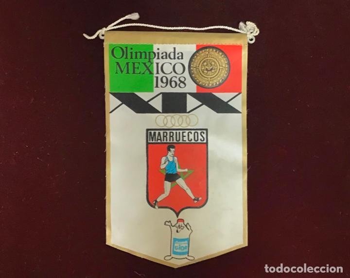 GIOR, BANDERÍN MARRUECOS, OLIMPIADAS MEXICO 1968 (Coleccionismo Deportivo - Banderas y Banderines otros Deportes)
