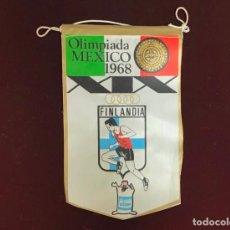 Coleccionismo deportivo: GIOR, BANDERÍN FINLANDIA, OLIMPIADAS MEXICO 1968. Lote 213694068