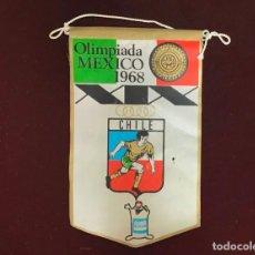 Coleccionismo deportivo: GIOR, BANDERÍN CHILE, OLIMPIADAS MEXICO 1968. Lote 213694381
