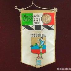 Coleccionismo deportivo: GIOR, BANDERÍN COLÔMBIA, OLIMPIADA MEXICO 1968. Lote 213694906