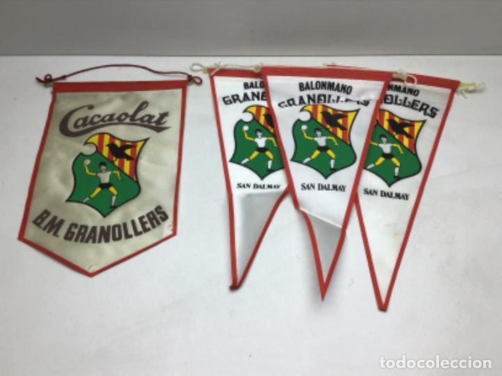 LOTE ANTIGUOS BANDERINES BALONMANO GRANOLLERS - CACAOLAT - SAN DALMAY (Coleccionismo Deportivo - Banderas y Banderines otros Deportes)