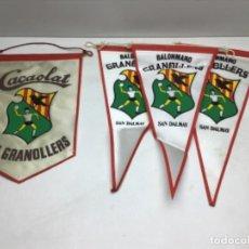 Coleccionismo deportivo: LOTE ANTIGUOS BANDERINES BALONMANO GRANOLLERS - CACAOLAT - SAN DALMAY. Lote 216581270