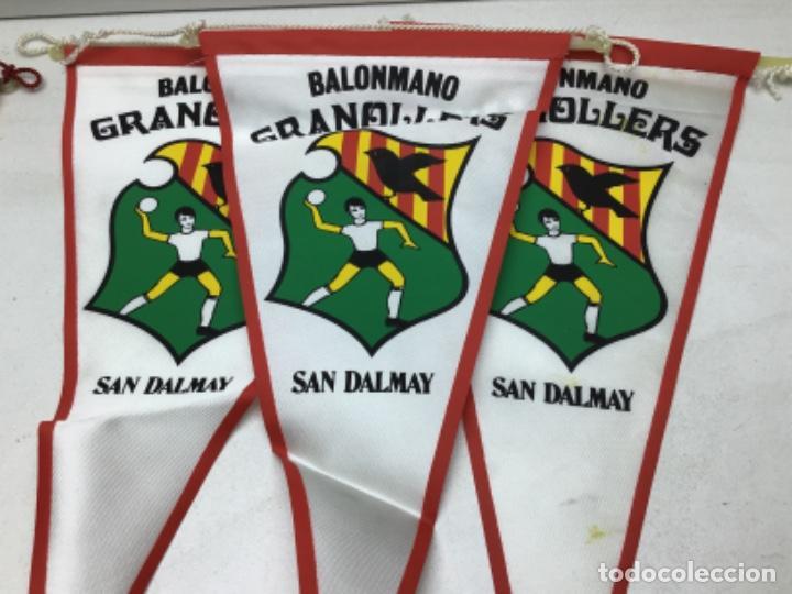 Coleccionismo deportivo: LOTE ANTIGUOS BANDERINES BALONMANO GRANOLLERS - CACAOLAT - SAN DALMAY - Foto 3 - 216581270