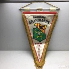 Coleccionismo deportivo: ANTIGUO BANDERIN BALONMANO GRANOLLERS - FINAL IV LLIGA CATALANA. Lote 216581536