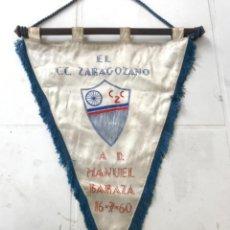 Coleccionismo deportivo: BANDERIN DE EL CLUB CICLISTA ZARAGOZANO A MANUEL BARAZA 16-7-60.. Lote 217194965
